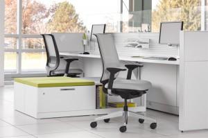 Рабочее место в современном офисе от Steelcase