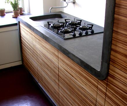 Кухонная столешница из бетона