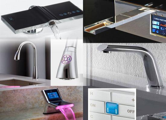 Подборка современных hi-tech смесителей для кухни и ванной