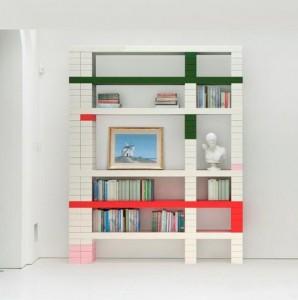 Домашние полки, собираемые из блоков и перекладин
