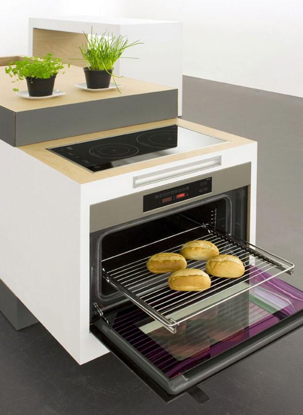 Несмотря на небольшие размеры, кухня полностью справляется со своими функциями