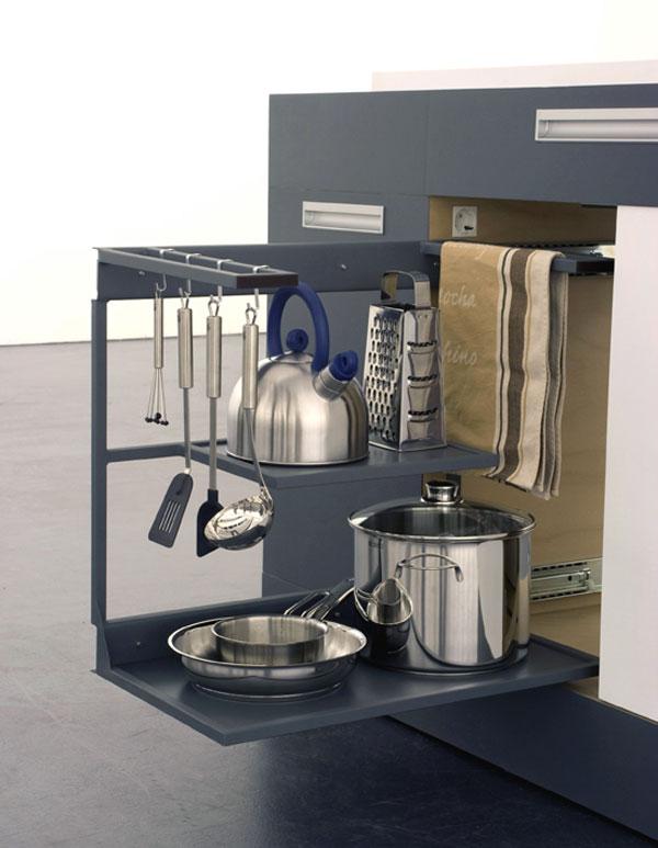 Компактное хранение кухонной утвари