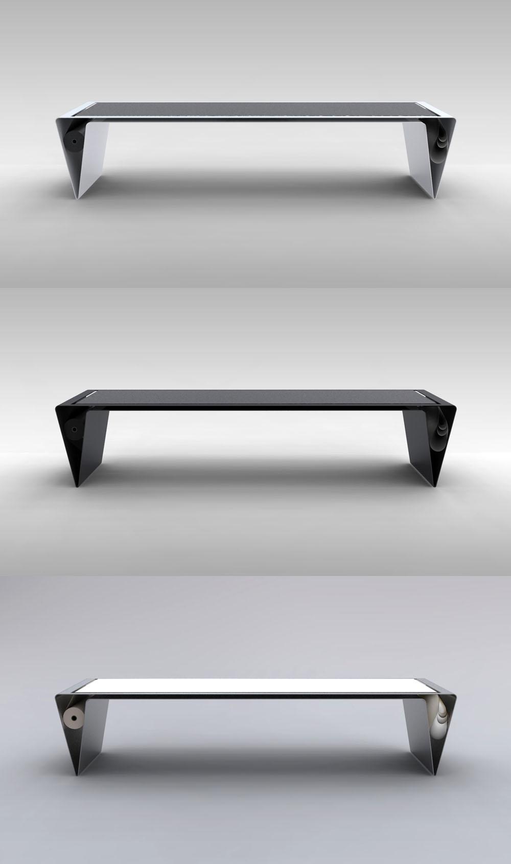 Стол с постоянно обновляемой столешницей