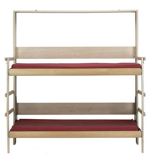 Простая и надежная 2-ярусная кровать. Откидывается от стены