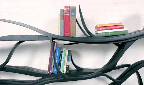 Оригинальные дизайнерские полки для книг