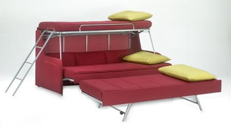 Раскладная 2-ярусная кровать