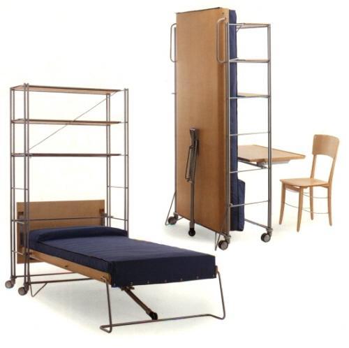 Подъемная кровать трансформер на колесиках со столом