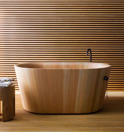 Итальянская деревянная ванна офуру. Принимайте ванну в японском стиле