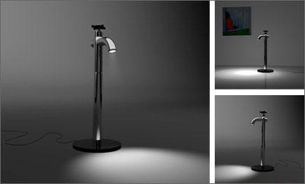Дизайн оригинальной настольной лампы.