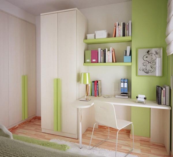 Идеи маленькой комнаты подростка в светлых тонах