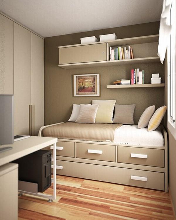 Идеи небольшой комнаты подростка. Ящики под кроватью
