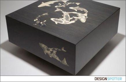 Оригинальный кофейные столик с узорами