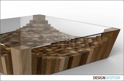 Кофейный столик со стеклянным верхом фото