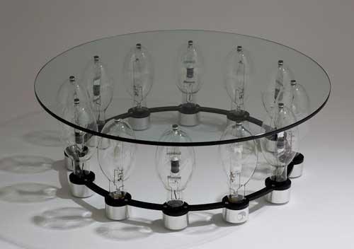 оригинальный стеклянный столик