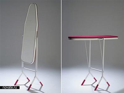 Стол гладильная доска, которая превращается в большое зеркало в полный рост.