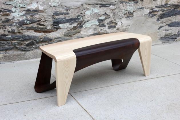 Оригинальная дизайнерская скамейка