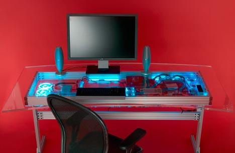 компьютерный стол в стиле хай-тек фото