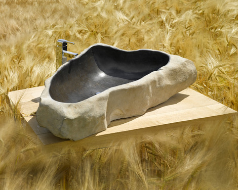 раковина каменная мойка из единого валуна