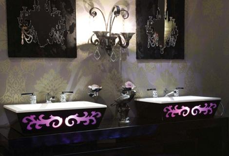 Раковина с декоративной подсветкой. Оригинальное решение ванной комнаты