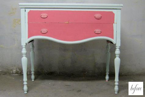 Пример переделки мебели. Старый комод.