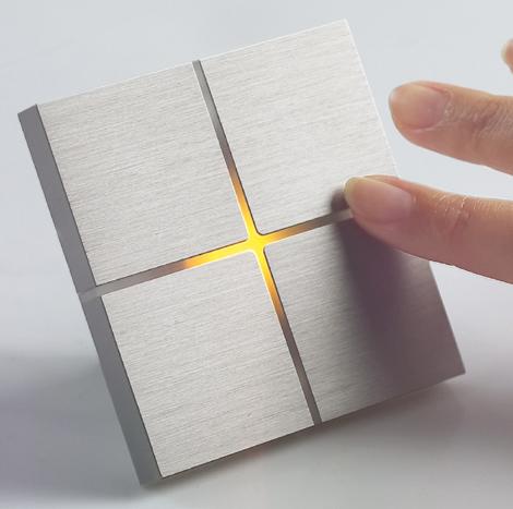 Новый дизайн и сенсорное управление выключателей света Basalte.