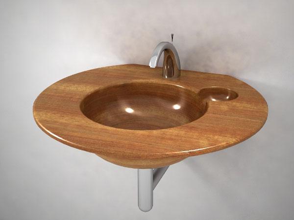 деревянная раковина фото