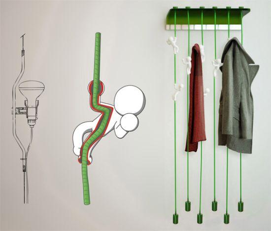 Конструкция вешалки для прихожей