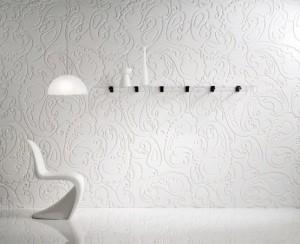 Настенные декоративные панели белого цвета с оригинальным рисунком