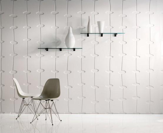 Ольтернатива настенным обоям -- декоративные панели с крупной фактурой