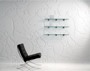 Решение интерьера в черно-белых тонах с использование панелей для стен