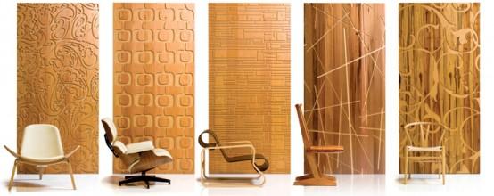 Пример покраски дековативных панелей для оформления стен