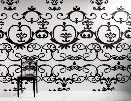 Черно-белые настенные панели -- альтернатива обоям для стен