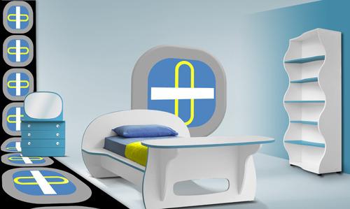 Детская комната интерьер. Детская кровать.