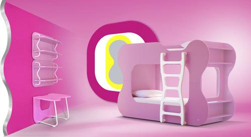 Детская двухярусная кровать чердак. Оригинальный дизайн интерьера детской комнаты