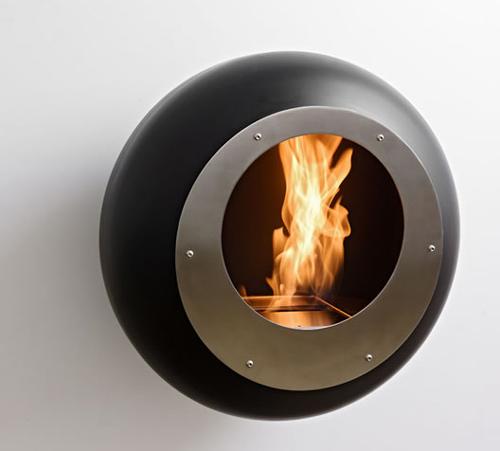 Круглый камин на газе