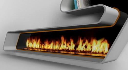 Мини камин на био топливе. Настолько безопасен, что может размещаться на книжной полке. Пламя регулируется.