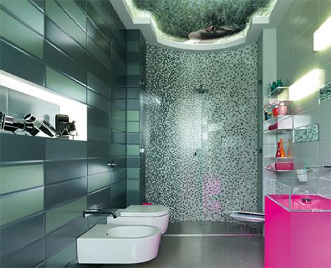Итальякнский кафель для ванной
