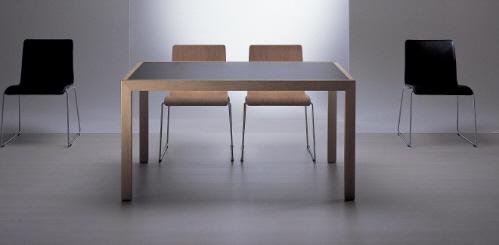 Раздвижной обеденный стол Янус. Немецкий дизайн мебели.