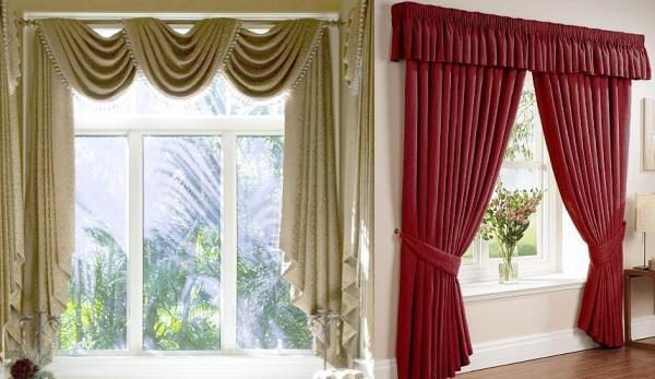 Плотные шторы насыщенного цвета