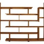 Оригинальный деревянный стеллаж. Ставится на пол и легко перемещается на колессиках