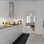 Скандинавская кухня в белых тонах