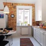 Дизайн кухни построенной на контрастах