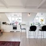 Контрастные решения на современной кухне