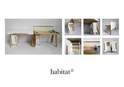 Стол-бюро для ноутбука с открывающейся крышкой