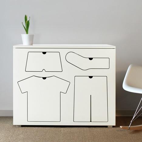 Детский комод с оригинальными ящиками белого цвета