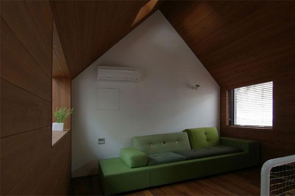 Дизайн чердака, японский стиль.
