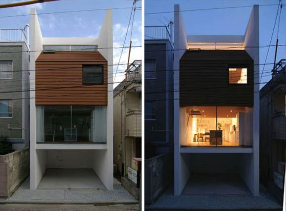 Дизайн маленьких помещений. Дом в Японии.