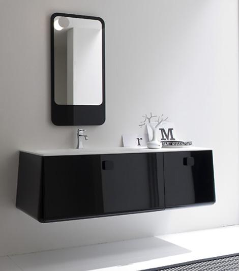 Современная итальянская мебель для ванной комнаты. Плавные формы парящие в воздухе.