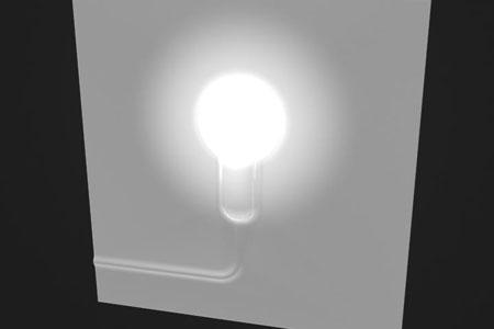 Керамическая плитка со встроенным светильником. Технология LED