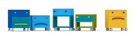 Разноцветные комоды для интерьера детской комнаты